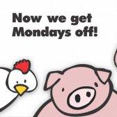 Meistern Sie Ihre Fleisch fressenden Verlangen Montag könnte Ihnen helfen und die Umwelt