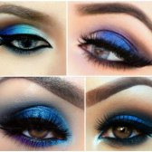 electric blue Augen Make-up Tutorial