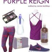 Fitness Mode-Look Buch: Lila Herrschaft