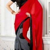 Halb und halb Saris Trend