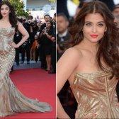 Diva im indischen Stil in Cannes