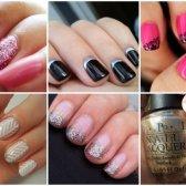 Metall und Schaum Schattierungen von Nagelkunst