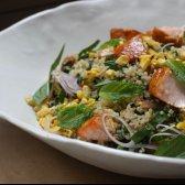 Rezept: Löwenzahn auf den Grüns Candice Kumai und Quinoa-Salat