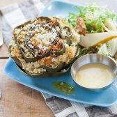 Artischocken mit sautierten Waldpilzen Salat [Rezept] gestopft