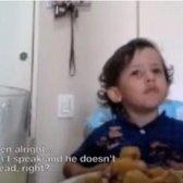 Kleinkind bietet tröstende Argument ein Vegetarier zu werden