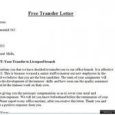 Transferanfrage Brief
