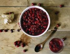 Eine gesunde Spin auf Cranberry-Sauce
