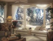 Verschiedene Möglichkeiten, Fenster Schals zu suspendieren