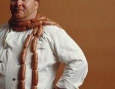 Mario Batali Küsschen essen sorta Gemüse mit fleischfreien Montag