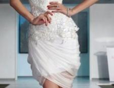 weißes Kleid für einen Cocktail