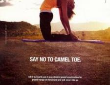 """Slogans in der Recycling-lululemon gefunden beweisen """"camel toe"""" war die beste Wahl"""