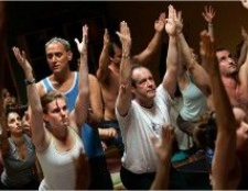 Sober in der Stadt: der Rückseite des Yogaworks Vinnie Marino an diesem Wochenende