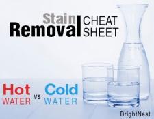 Stain Spickzettel: Wenn heiß gegen kaltes Wasser zu verwenden,