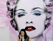 Die Band Schneiden der neuen Turnhalle Madonna harte Süßigkeit