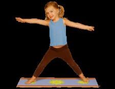 Yoga-Matte Baby glücklich